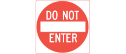 DONOTENTER - 24'' DO NOT ENTER
